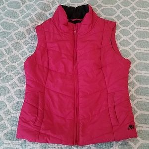 Aeropostale Hot Pink Puffer Vest. Size S